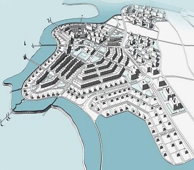 """Планировка и некоторые проекты для ЖСК  """"Остров """" на П-ове Саперный на Русском."""